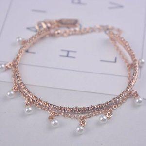 Kate Spade Pearl Embellished Rose Gold Bracelet